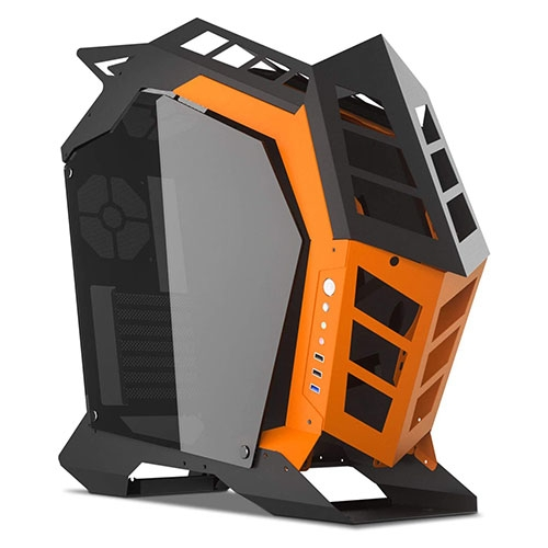 DarkFlash Knight K1 Open Frame with Tempered Glass Mid Tower ATX Computer Case | DFKNIGHTK1