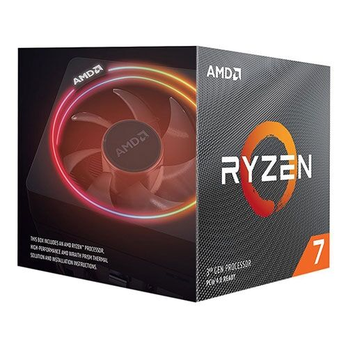 AMD Ryzen 7 3rd Gen 3800XT 8 Cores Turbo 4.7 GHz AM4 32MB Cache With Wraith Prism Cooler | 100-100000279WOF