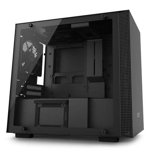 NZXT H200i Mini-ITX Computer Case with Smart Device Matte Black/Black | CA-H200W-BB