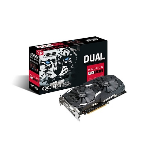 ASUS Radeon RX 580 8GB Dual-fan OC Edition GDDR5 DP HDMI DVI VR Ready AMD Graphics Card | DUAL-RX580-O8G