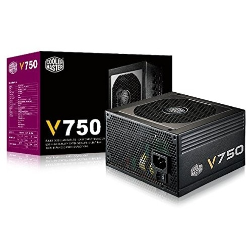 Cooler Master V750-750W Compact Fully Modular 80 PLUS Gold Power Supply | CECM-RS750-AMAAG1-UK