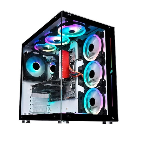 1st Player Tempered Glass ATX Gaming Case - Black | 1st Player SP8