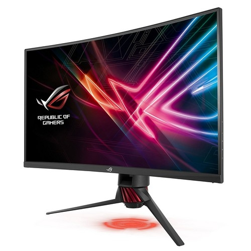 ASUS ROG Strix Curved XG32VQ, 32 Inch (31.5 Inch) WQHD (2560 x 1440), VA, Up to 144 Hz, 125 Percent sRGB, DP, HDMI, FreeSync, AuraSync | XG32VQ