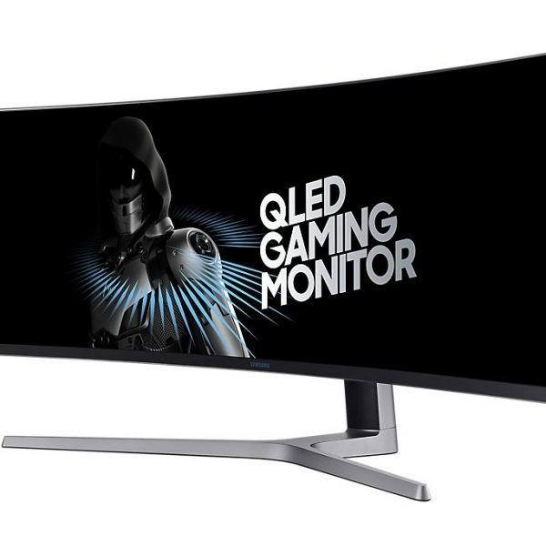 "Samsung 49"" Curved Monitor with metal Quantum Dot technology 