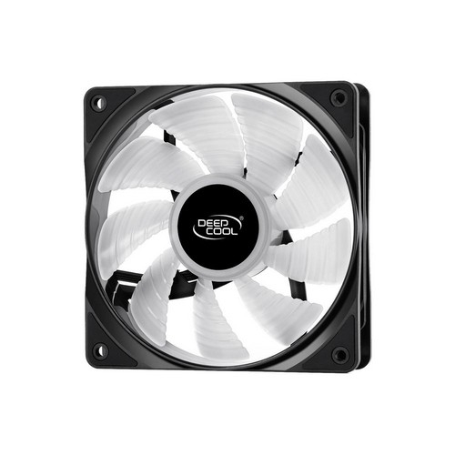 DEEPCOOL CF120, Customizable Addressable RGB LED Lighting, MB SYNC by 5V A-RGB Header, SYNC with other A-RGB Devices, 120mm PWM Fan | DP-FA-RGB-CF120-1