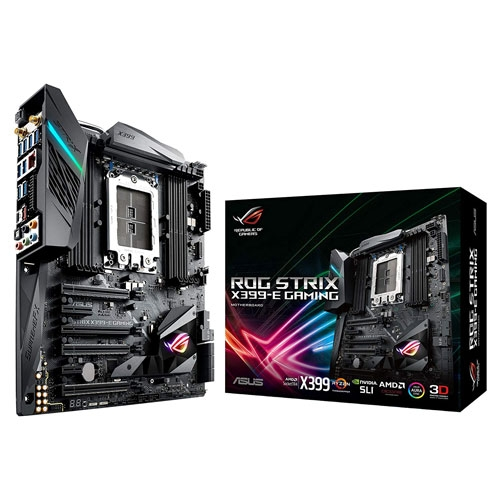 Asus ROG Strix X399-E Gaming AMD Ryzen Threadripper TR4 DDR4 X399 with AURA Sync RGB Lighting E-ATX HEDT Motherboard | 90MB0V70-M0EAY0