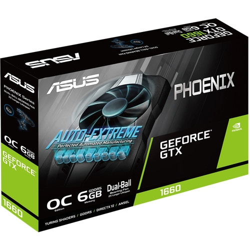 Asus GeForce GTX 1660 Phoenix 6GB OC 192-Bit Graphics Card | 90YV0CU0-M0NA00