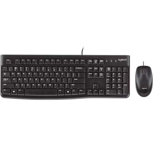 Logitech MK120 Wired Keyboard And Mouse For Pc - Black | 920-002562