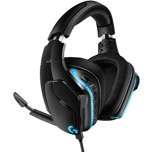 Logitech G635 DTS:X 7.1 Surround Sound LIGHTSYNC RGB PC Gaming Headset | 981-000750