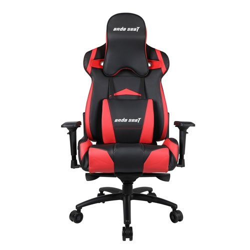 Andaseat Massive Series High-Back Ergonomic Design PVC Leather Gaming Chair With 4D Adjustable Armrests - Black/Red | AD3XL-01-BR-PV