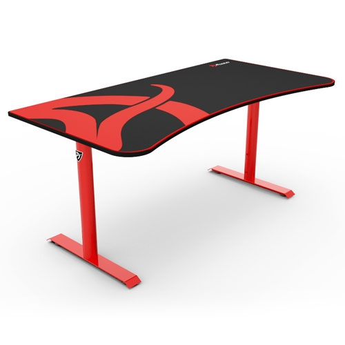 Arozzi Arena Gaming Desk - Red | ARENA-NA-RED1