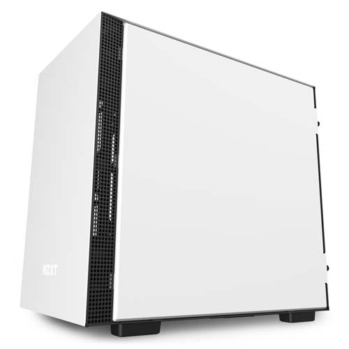 NZXT H210i Mini-ITX Case with Lighting and Fan Control Computer Case - White | CA-H210i-W1