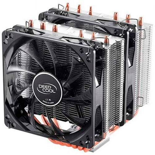 DeepCool Neptwin Motherboard Control and Wired Controller Supported 12V RGB CPU Air Cooler | DP-MCH6-NT-A4RGB