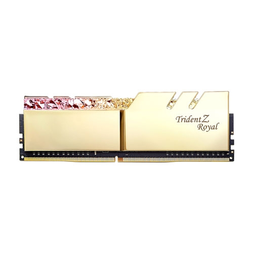 G.SKILL Trident Z Royal Series 32GB (2 x 16GB) 288-Pin RGB DDR4 SDRAM DDR4 3200 (PC4 25600) Desktop Memory Model - Gold | F4-3200C16D-32GTRG
