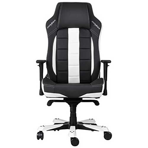 DXRacer Classic Series Big and Tall Racing Bucket Seat Comfortable - Ergonomic Computer Chair - Black/White | GC-C120-NW-A1