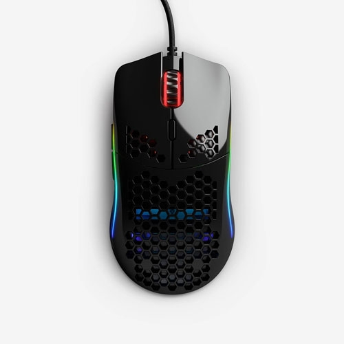 Glorious Model O PC Gaming Race GO-GBLACK 12000 DPI RGB Led Gaming Mouse - Glossy Black