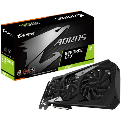 Gigabyte Aorus GeForce GTX 1660 Ti 6GB GDDR6 192-bit 3x Windforce RGB Fusion 2.0 Graphics Card  | GV-N166TAORUS-6GD