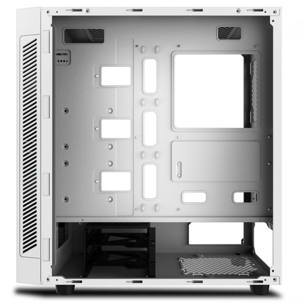 DeepCool MATREXX 55 ADD-RGB WHITE Dual 4mm Tempered Glass Sync Control ADD-RGB Lighting System Computer Case - White | DP-ATX-MATREXX55-AR