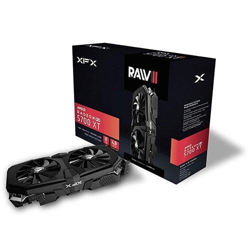 XFX Radeon RX 5700 XT RAW II 8GB GDDR6, DX12 VR Ready, 3xDP HDMI, PCI-E AMD Graphics Card - Black | RX-57XT8OFF6